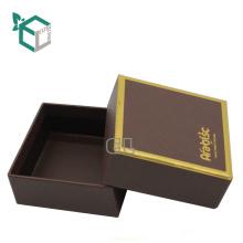 Papel de lujo de lujo Caja de empaquetado del chocolate del papel de la caja de la forma con la tapa