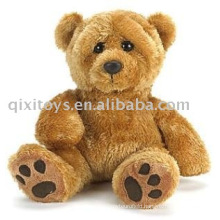 plush&stuffed footprint teddybear,soft sitting animal toy