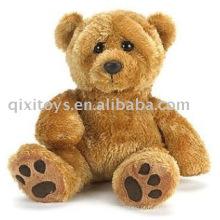 pelúcia e recheado pegada teddybear, macio sentado brinquedo animal