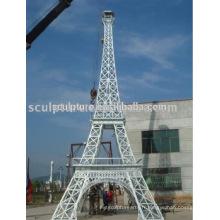 Grand Monument Moderne De La Tour Eiffel Sculpture en métal extérieur