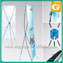 China fornecedor publicidade triângulo x banner stand