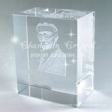 3D Image Crystal Glass Souvenir For Personal Award & crystal home decorations