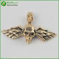 Personalized Titanium Steel Men's Jewelry Bird Wings Skull Pendant