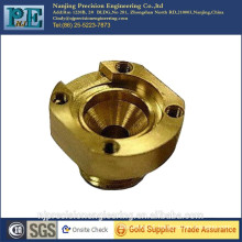 Precision forge and cnc machining brass mounting nozzle