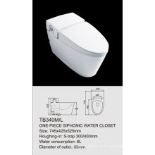 armario de agua sifónico de una pieza TB340M / L single flush