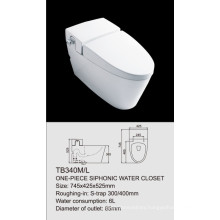 one-piece siphonic water closet TB340M/L single flush