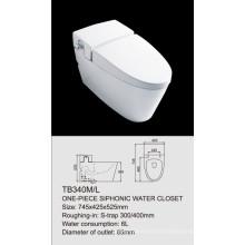 one-piece siphonic water closet TB340M/L single flush