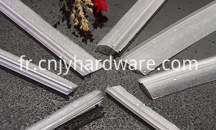 Waterproof PVC shower door bottom edge seal