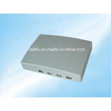 4core caixa de terminação de fibra óptica de plástico / caixa de terminação de cabo