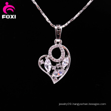 Fashion White Gold Brass Heart Shape Pendant