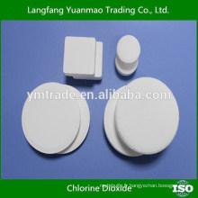 Tablette haute pression à base de dioxyde de chlore tcca