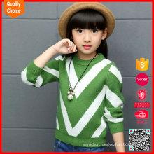 Latest fashion long sleeves design pattern customized cashmere sweater kids