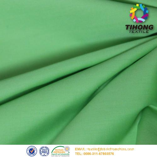 green poplin fabric