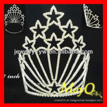 Venda Por Atacado Little star Patriotic rhinestone pageant tiara