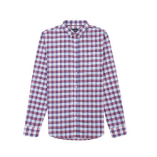 Men's Linen Yarn Dyed Long Sleeve Shirt