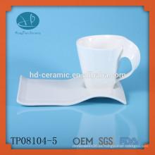 Taza de café expreso y platillo para el hotel, taza y platillo de proveedor de China, taza de café y plato, taza de porcelana y platillo