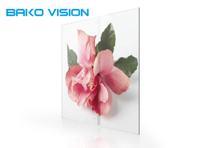 160° Viewing Angle Transparent Glass LED Screen