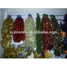 guirnaldas metálicas ornamento fiesta oropel
