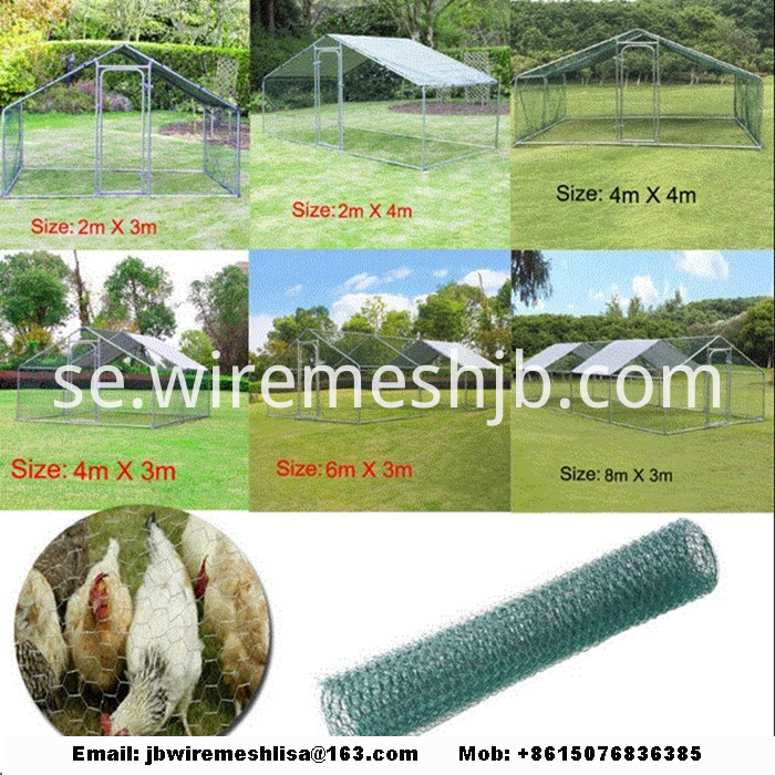 Hexagonal Mesh Chicken Cage House