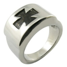 Cross Ring Stainless Steel Jewellry
