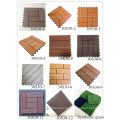 Azulejos de cubierta de madera plástica de alta densidad del pavimentador del patio antideslizante