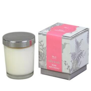 scented original wedding soy wax candles in glass with tin lid