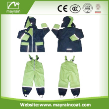 PU Children Green Rainsuits