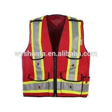 5 puntos rompen 5 maneras de rasgar. Seguridad duradera chalecos de alta visibilidad para trabajos de policía en servicio, protección de guardia