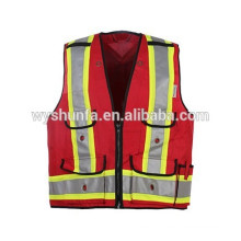 5 points break away 5 ways tearing. durable safety high visibility vests for police work on duty,guard protection