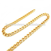 Fashion High Quality Metal Gold Aluminum Curb Chain