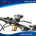 Hot Sell 300lm carregamento USB Led luz da bicicleta