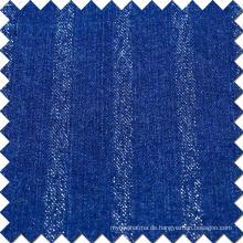 Blue Cotton Viskose Polyester Spandex Denim Stoff für Jeans