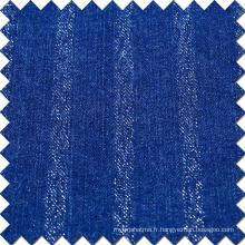 Blue Cotton Viscose Polyester Spandex Denim Fabric pour jeans
