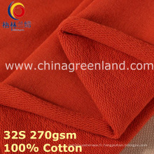 Tissu 100% de coton tricoté de molleton pour des vêtements de textile (GLLML385)