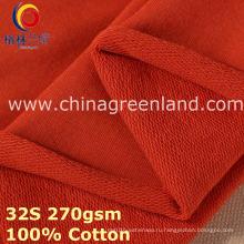 100% хлопок трикотажные флиса ткани для текстильной одежды (GLLML385)