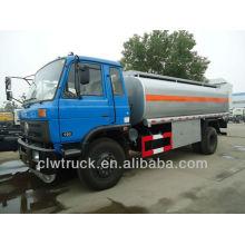 Venta caliente Dongfeng diesel camión cisterna, 12-15M3 combustible cisterna camión dimensiones