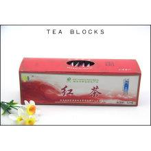 125g Sugestão de sangue chinês reduzir e blocos de chá preto de fígado chinês