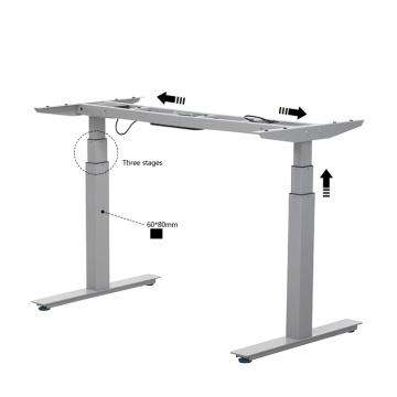 2018 горячий двухмоторный металлический стол с регулируемой высотой