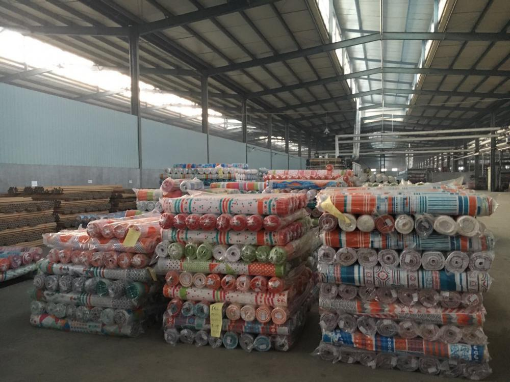 printing factory fabric roll packed