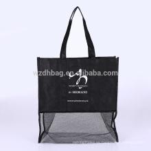 La bolsa de asas no tejida al por mayor reutilizable de las compras para la promoción, supermercado