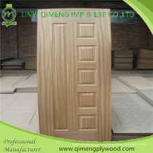 Wood Veneer or Melamine Paper Face HDF Moulded Door Skin