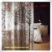Aluminiumlegierung / Dekoratives / Metallvorhang-Masche für das Errichten