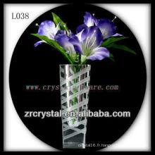 Beau vase en cristal L038