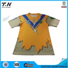 2015 Fashion Bulk Blank Full Sublimated T-shirt personnalisé