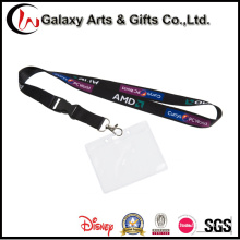 Screen Printed Lanyard with PVC Card Holder