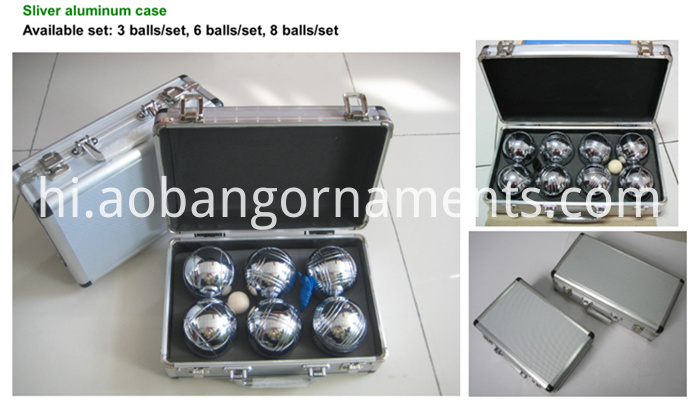 boule in aluminium case