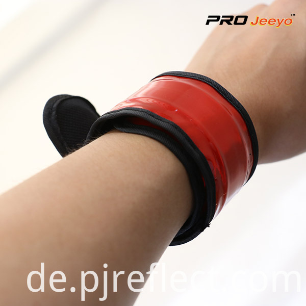Reflective Safety Fluo Crystal Lattice PVC Slap Bracelet WB-JG001