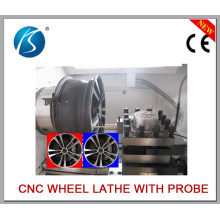 Leading Lathe Used to Repair Car Wheel Surface