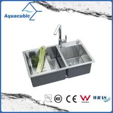Évier classique en acier inoxydable fabriqué en acier (ACS7845A2)