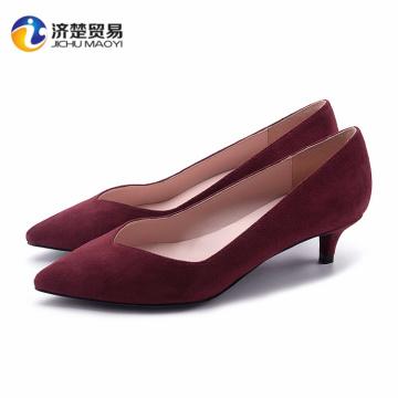 2017 Sexy low profile shoes women heel sexy high heels
